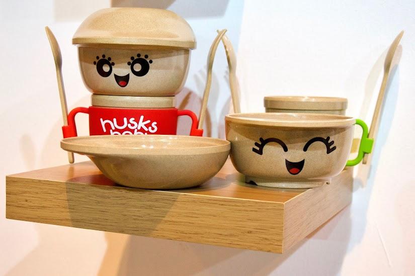 Vajillas recicladas de cáscara de arroz de Husksware