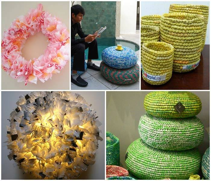 25 ideas of how to recycle plastic bags handy diy for Ideas to recycle plastic