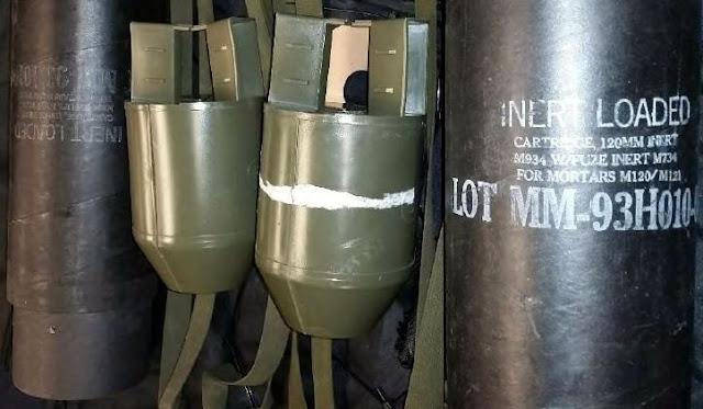 Discovered 2 inert mortar shells