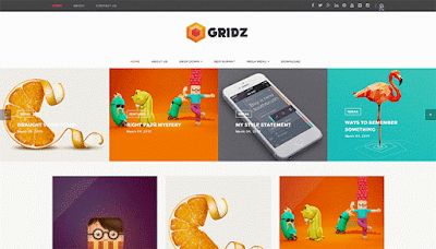 Gridz Responsive Blogger Template Free Download