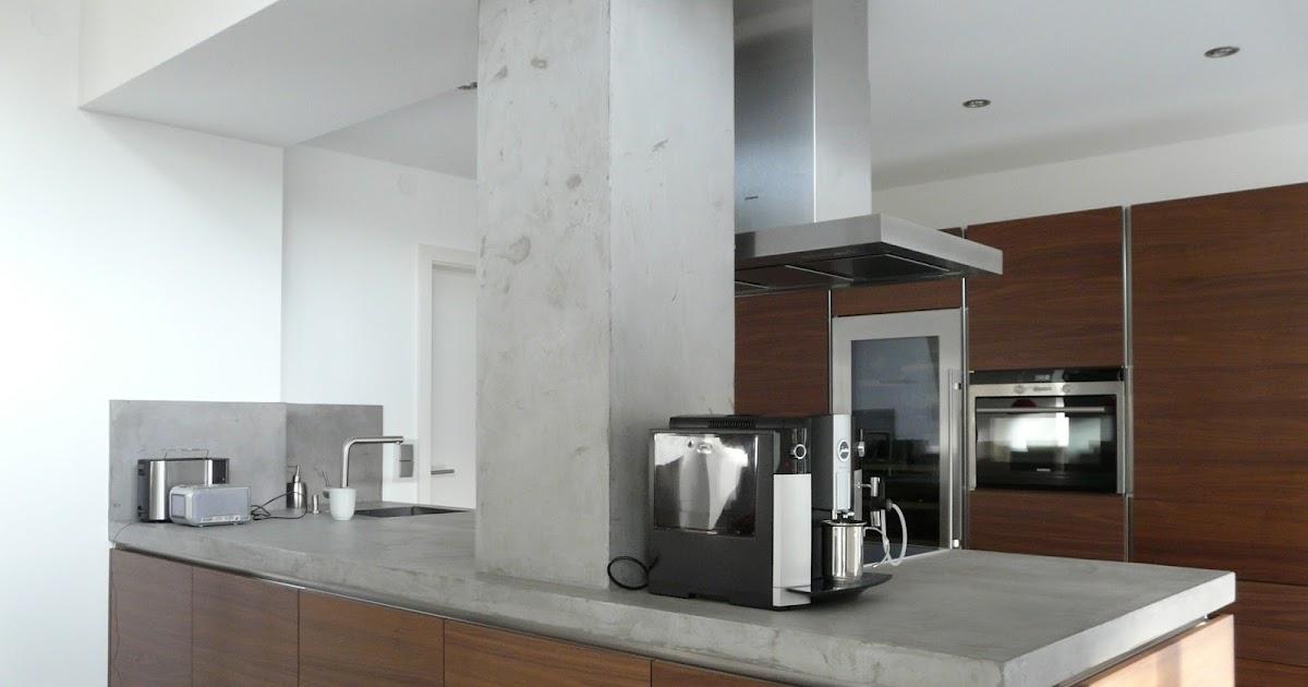 wand wohndesign beton cire beton cir k chenwand arbeitsplatte in betonoptik. Black Bedroom Furniture Sets. Home Design Ideas