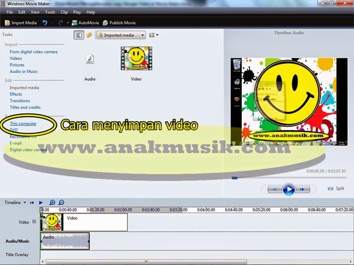 4. Cara Mudah Menggabungkan Lagu dan Video di Movie Maker