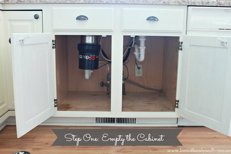 Cleaning Amp Organizing Under The Kitchen Sink Love Of