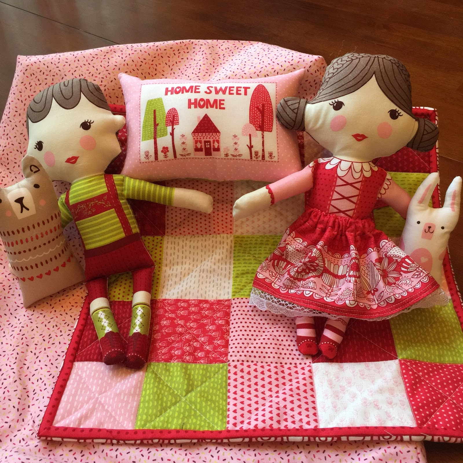 A Place To Share Fabric Panel Dolls