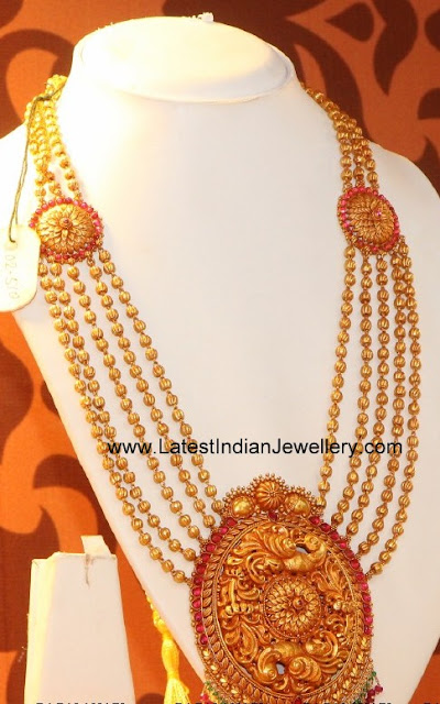 Antique Gold Beaded Haram