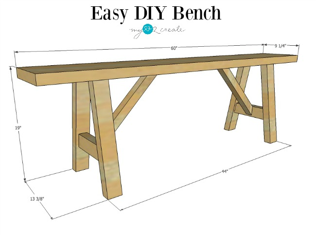 Free Easy DIY Bench Plans