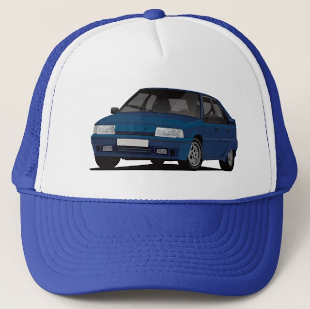 Blue Citroen BX GTi hats