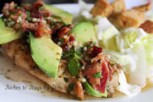 Chicken Avocado with Bacon Cilantro Dressing