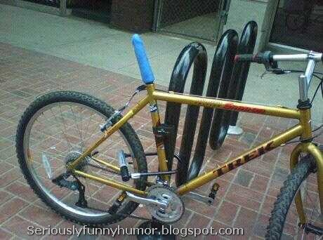 Bicycle with vibrator dick instead of seat - hilarious funny photo
