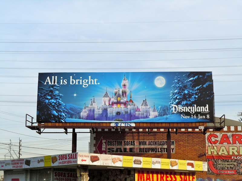 Disneyland All is bright billboard