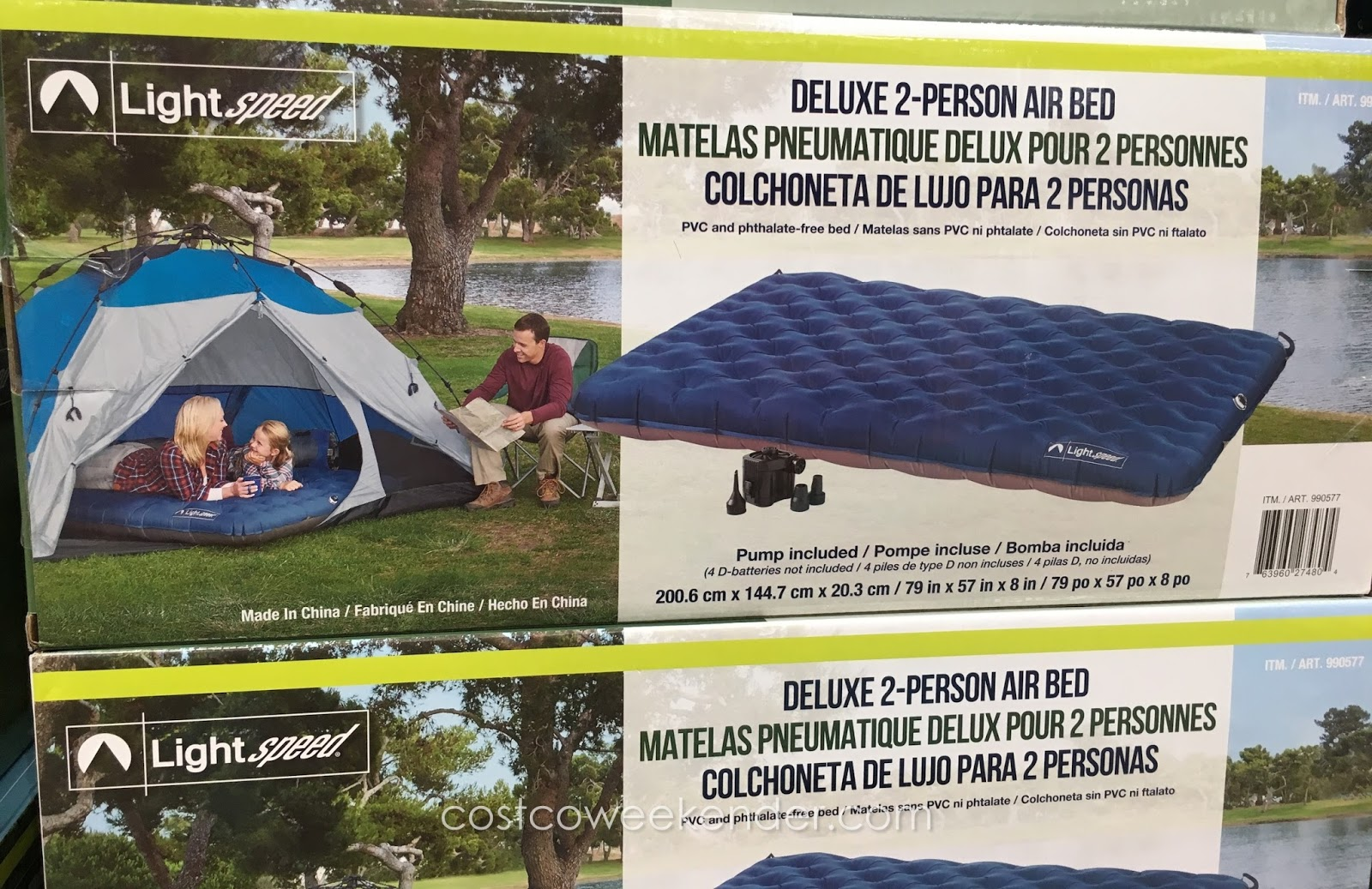 Camping bed costco - Lightspeed Deluxe 2 Person Airbed Great For Camping And Sleeping Outdoors
