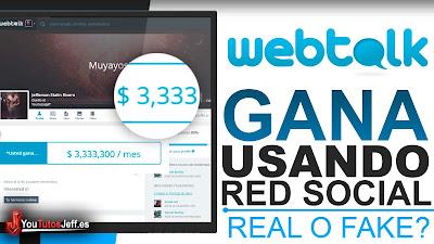 Ganar Dinero Usando una Red Social? Webtalk