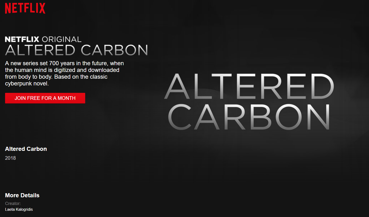 Resultado de imagem para ALTERED CARBON