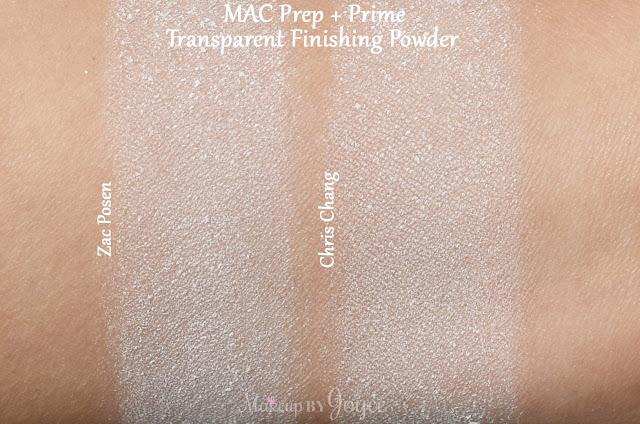 MAC Prep + Prime Transparent Finishing Pressed Powder Swatch