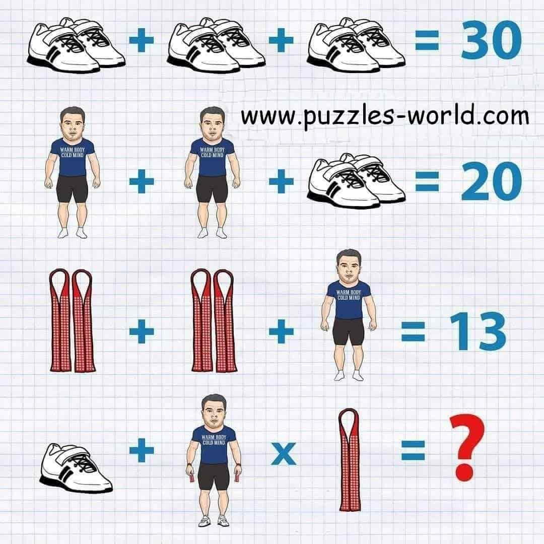 Shoes + Shoes + Shoes = 30 puzzle