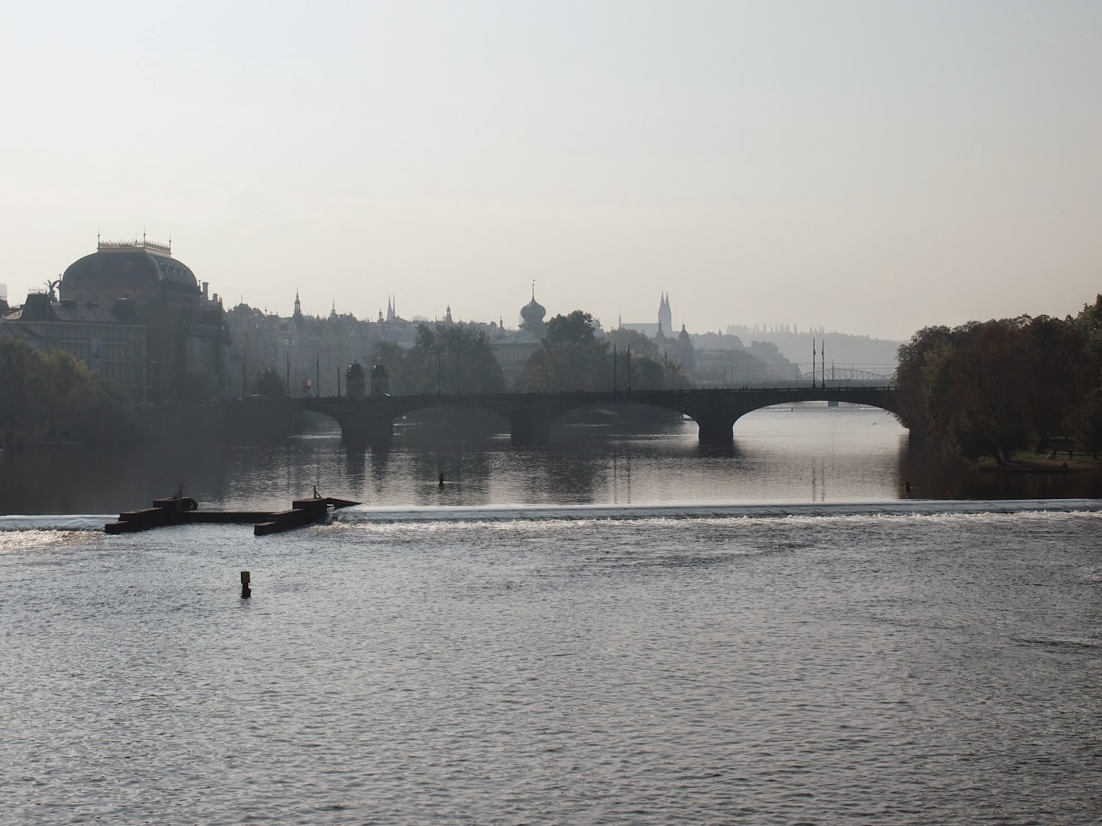 A view from Charles bridge