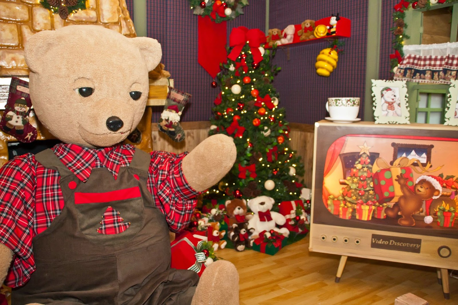 Cartinhas personalizadas para o Papai Noel e urso animatrônico que pode ser  acompanhado ao vivo pela internet 86b4438333
