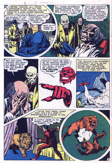 Yellow Claw v1 #4 atlas crime comic book page art by Jack Kirby