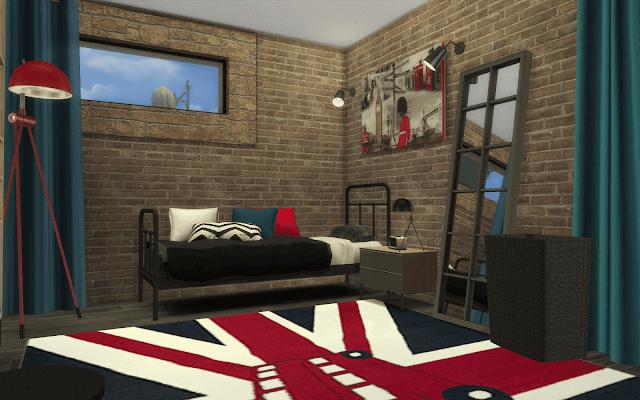 chambre london Sims 4