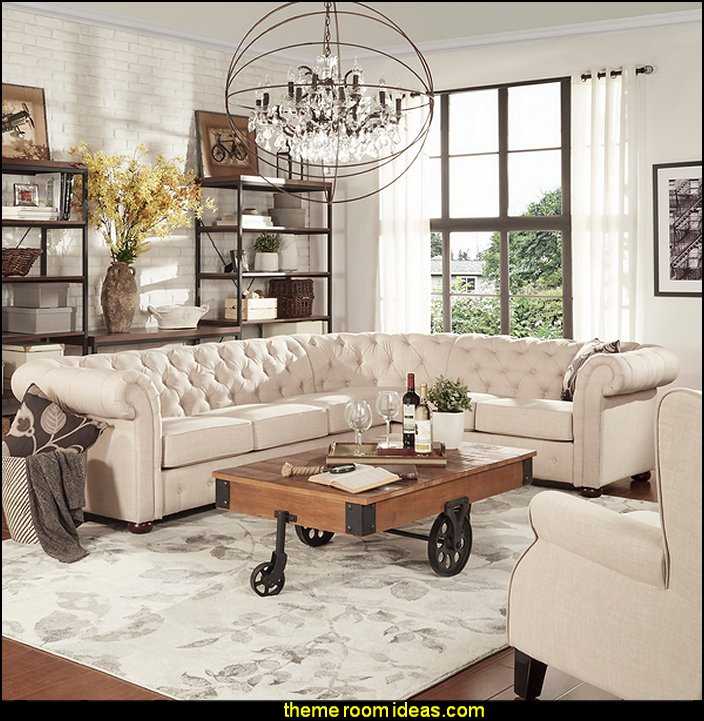 industrial style living room furniture decorating theme bedrooms maries manor industrial 21736