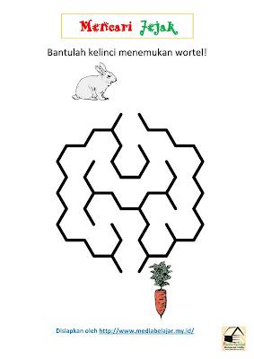 Mencari Jejak: Bantulah Kelinci Menemukan Wortel!