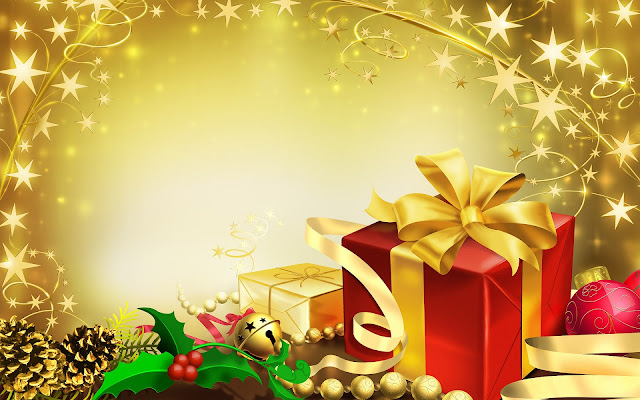 Kerststerren en kerstcadeautjes