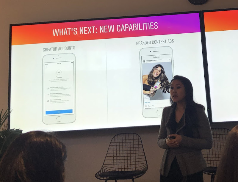 Instagram Headquarter in NYC event hosted by Ashley Yuki - product management lead