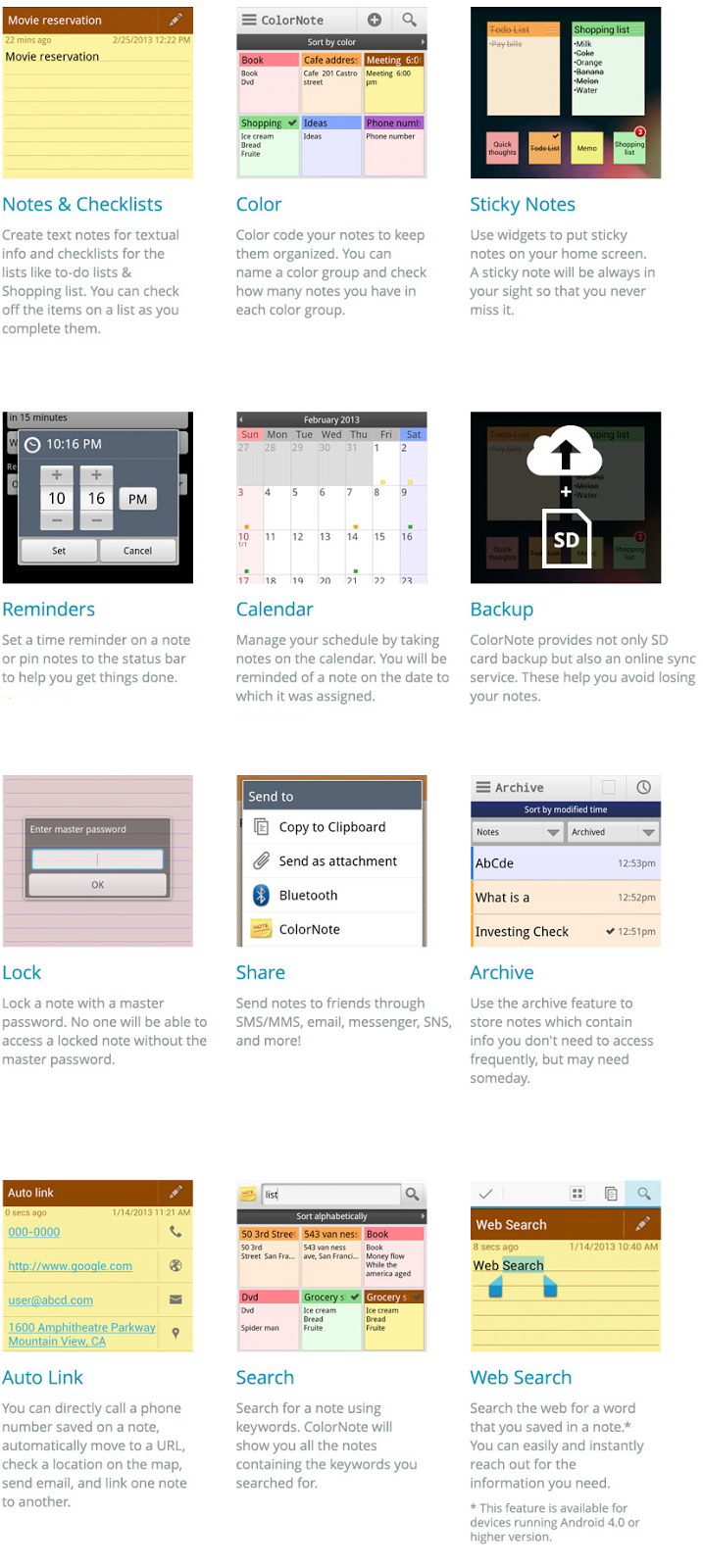 Social & Mobile, Inc : How to use ColorNote