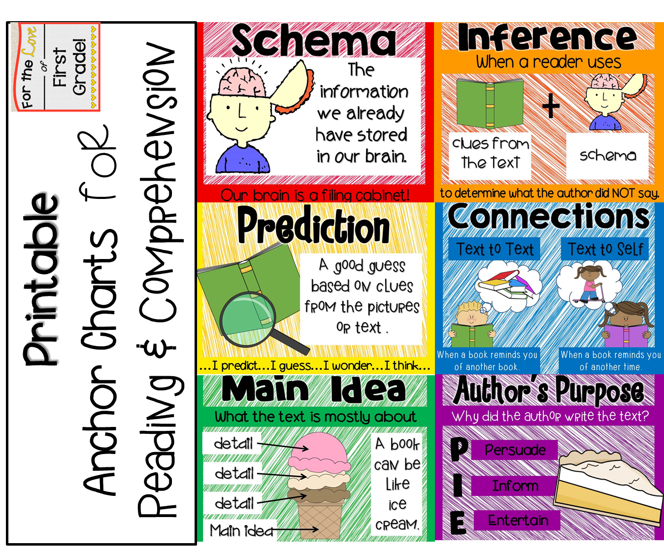 For The Love Of First Grade Printable Anchor Charts For