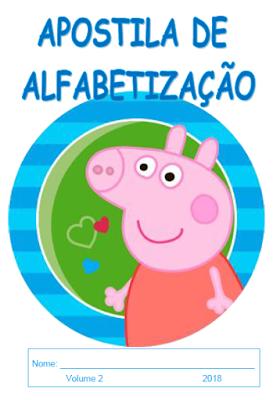 Capa da Apostila de alfabetização: Palavras - volume 2