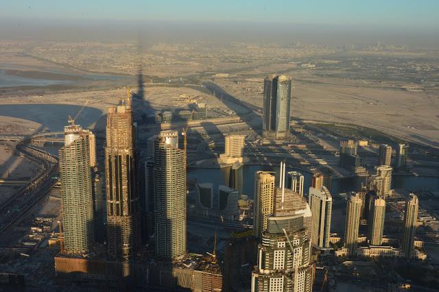 Vue du Burj Khalifa à Dubai