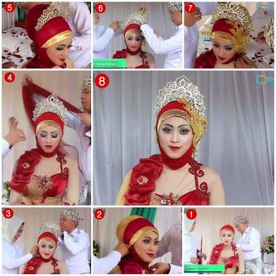 Tutorial Hijab Pengantin Muslimah Modern Dengan Sentuhan Ornamen Jawa pada Model Jilbab untuk Resepsi Pesta Pernikahan dan Akad Nikah
