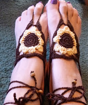 Tangle Yarn Sunny Sunflower Barefoot Sandals