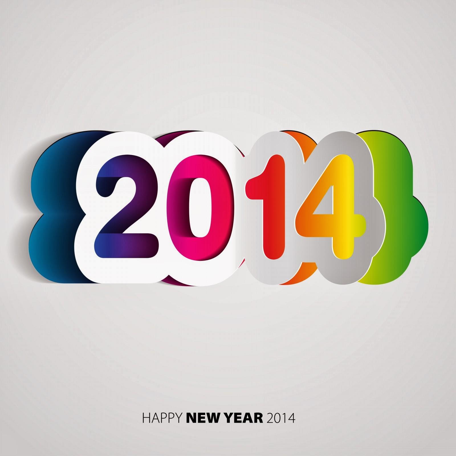 Amazing 2014 Text Designs Happy New Year