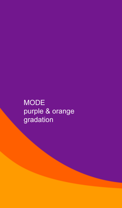 MODE purple & orange gradation