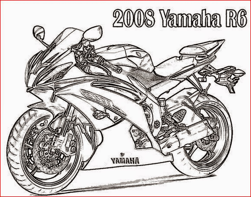 free biker coloring pages - photo#20