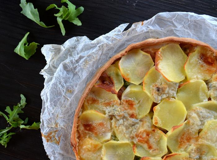 Decorazioni Torte Salate : Torta salata con patate zola e speck base homemade per torte