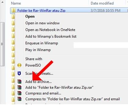 Cara Mudah Mengubah File Folder Menjadi Rar Winrar Atau Zip Pagunpost