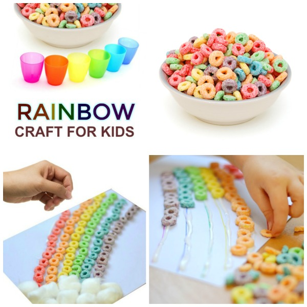 CEREAL RAINBOW: CRAFT FOR KIDS (great for all ages!) #artsandcraftsforkids #rainbowcraftspreschool #rainbowcrafts #springcraftsforkids #springcrafts #springcraftspreschool #craftsforkids #activitiesforkids #kidsactivities #kidscrafts #rainbowactivitiespreschool #rainbowartpreschool