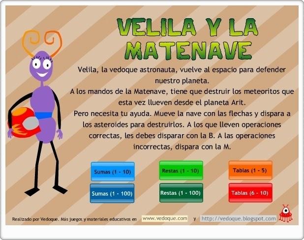 http://juegoseducativosonlinegratis.blogspot.com/2014/10/velila-y-la-matenave.html