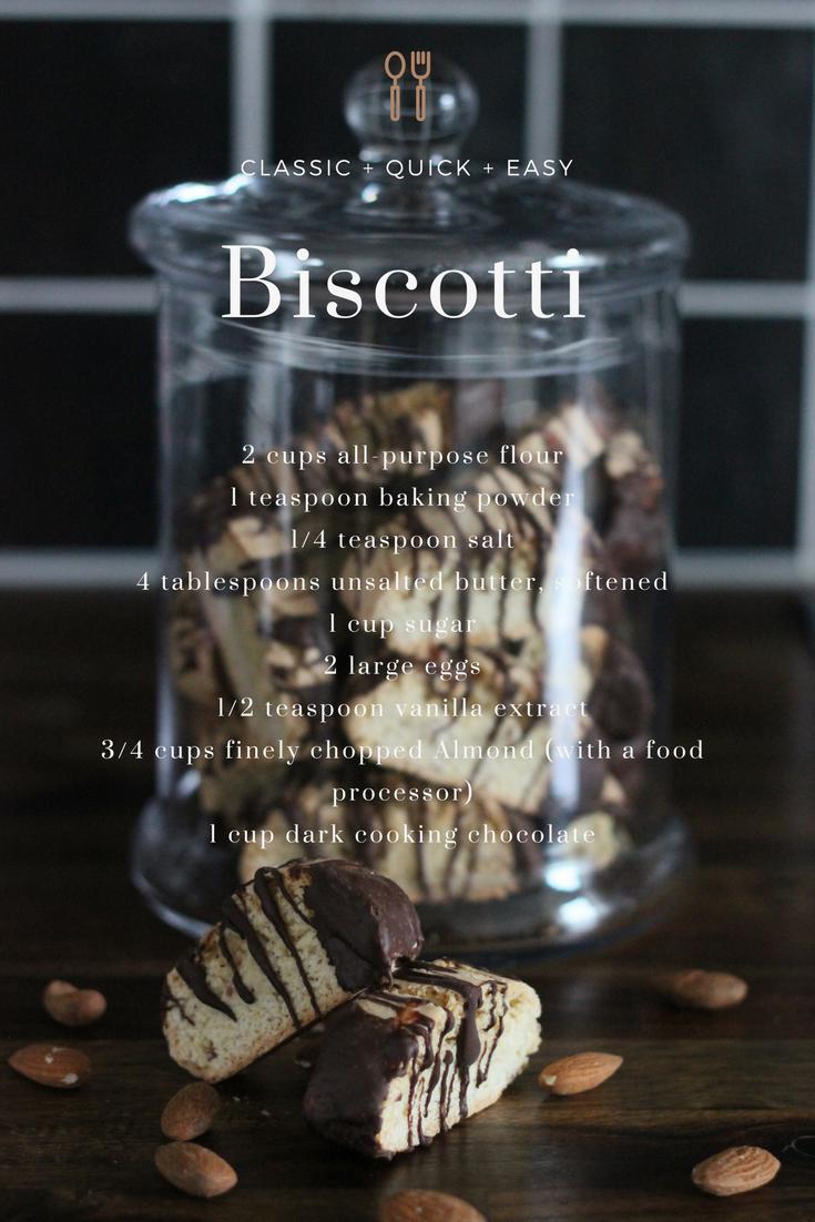 Almond Biscotti Recipe, Mandel biscotti recept