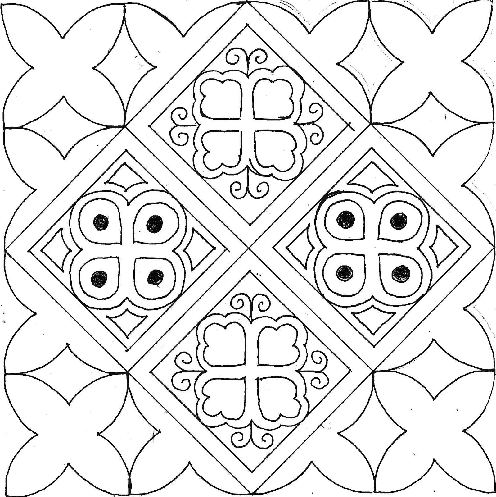 8+ Ini Sketsa Motif Batik Jambi Terlengkap   Paperbola