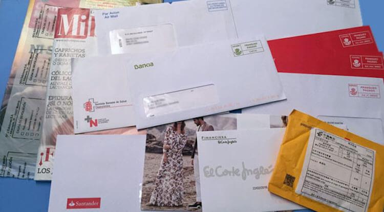 Propósitos hogar ecológico correo en papel