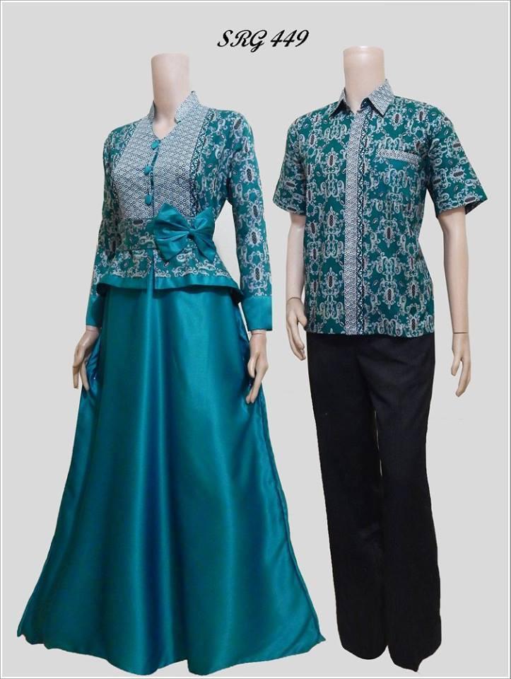 10 Model Gamis Batik Pasangan Untuk Pesta Pernikahan