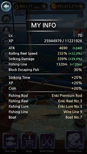 cheat fishing hook max level