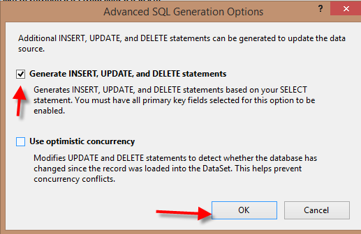 Generate INSERT, UPDATE, and DELETE statements
