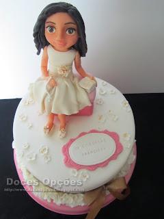 bolo primeira comunhão menina bragança