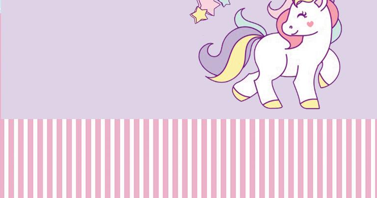 Unicornio Tarjetas, Invitaciones y Etiquetas para Candy Bar para Fiestas de Cumpleaños, para