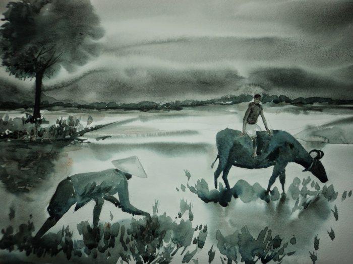 Мир акварели. Ayanangshu Sarkar