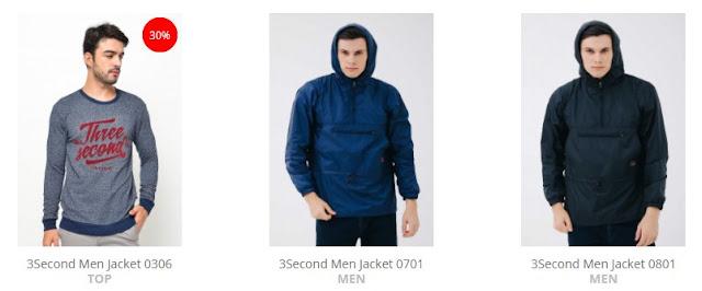 Berbagai Produk Jaket Pria Trendy dari 3second